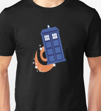 police box in time Unisex T-Shirt