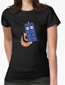 police box in time Womens Fitted T-Shirt