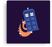 police box in time Canvas Print