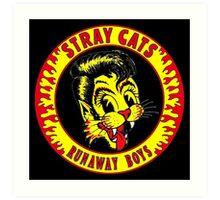 Stray Cats  (Runaway Boys) Colour Art Print