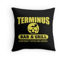 Terminus Bar And Grill Throw Pillow
