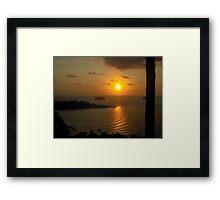 Sunset in Koh Chang Framed Print