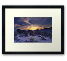 North west Palomino Valley Nv Sunset Framed Print