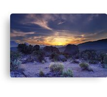 North west Palomino Valley Nv Sunset Canvas Print