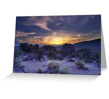 North west Palomino Valley Nv Sunset Greeting Card