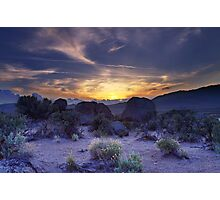 North west Palomino Valley Nv Sunset Photographic Print