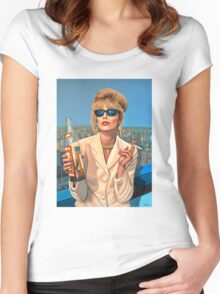 Joanna Lumley as Patsy Stone painting Women's Fitted Scoop T-Shirt