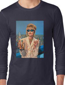 Joanna Lumley as Patsy Stone painting Long Sleeve T-Shirt