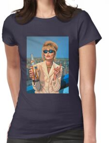 Joanna Lumley as Patsy Stone painting Womens Fitted T-Shirt