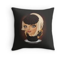 Creaminal Treats - Ms. Karma Throw Pillow