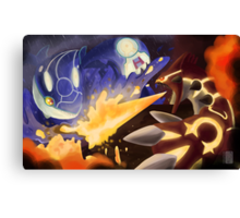 Kyogre and Groudon - New Battle Canvas Print