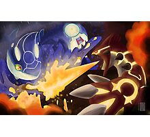 Kyogre and Groudon - New Battle Photographic Print