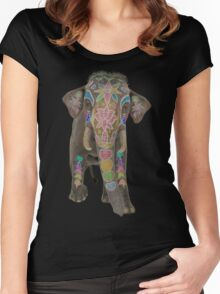 Indian Elephant  Women's Fitted Scoop T-Shirt