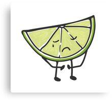 Sad lime is sad Canvas Print