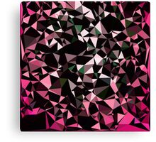 Pink Black Vector Triangle Design  Canvas Print