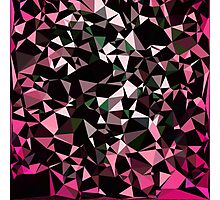 Pink Black Vector Triangle Design  Photographic Print