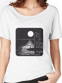 full moon love couple romance island love Women's Relaxed Fit T-Shirt