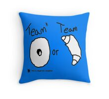 Team Bagel or Croissant Throw Pillow