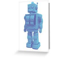 Blue Robot Greeting Card