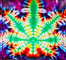 Tie Dye Cannabis Pillow ,  by kushcoast