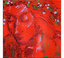 Red Beauty Acrylic Painting Photographic Print