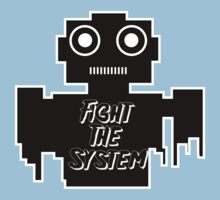 Fight The System Robot One Piece - Short Sleeve