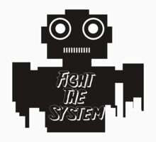 Fight The System Robot Baby Tee