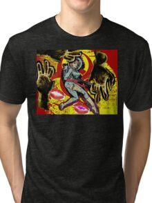 Space zombie graphic novel design Tri-blend T-Shirt