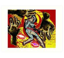 Space zombie graphic novel design Art Print
