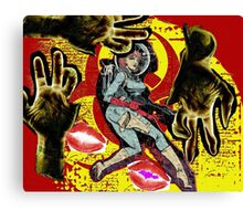 Space zombie graphic novel design Canvas Print
