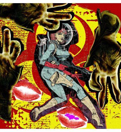 Space zombie graphic novel design Sticker