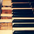 Old Piano Keys by Kadwell
