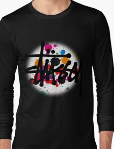 special STUSSY brush colors Long Sleeve T-Shirt