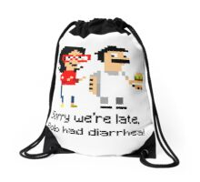 Burger Diarrhea Drawstring Bag