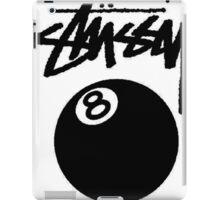 STUSSY HQ. BALL 8 BLACK iPad Case/Skin