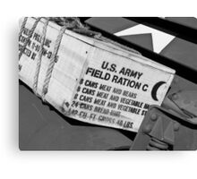 US Army boxed Rations Canvas Print