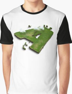 Capital A Letter island in the middle of the sea Graphic T-Shirt