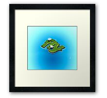 fly word for tourism travel island in the middle of the sea Framed Print