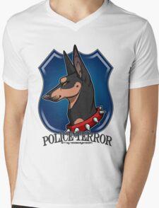 POLICE TERROR Mens V-Neck T-Shirt