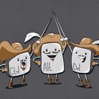 The Three Mus-key-teers  by pijaczaj