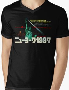 1997. New York City is now a maximum security prison. Breaking out is impossible. Breaking in is insane. Mens V-Neck T-Shirt