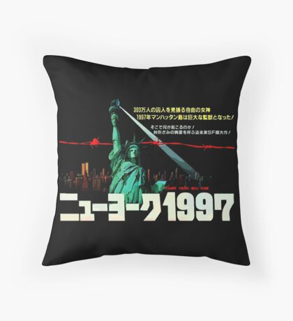 1997. New York City is now a maximum security prison. Breaking out is impossible. Breaking in is insane. Throw Pillow