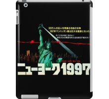 1997. New York City is now a maximum security prison. Breaking out is impossible. Breaking in is insane. iPad Case/Skin