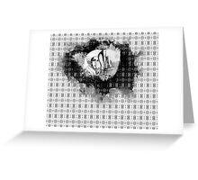 girl & skeleton patterns IV Greeting Card