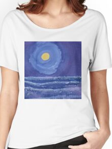 Night Surf original painting Women's Relaxed Fit T-Shirt