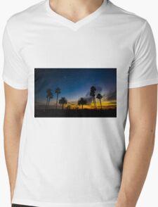 Sunset over the Palms Tress Mens V-Neck T-Shirt