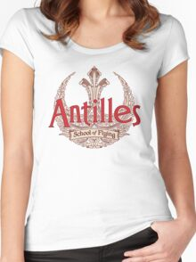 Antilles School of Flying (Light) Women's Fitted Scoop T-Shirt