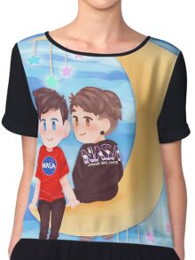Space Nerds Dan and Phil Chiffon Top