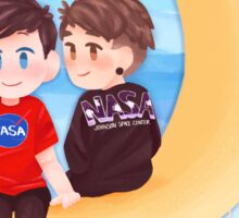 Space Nerds Dan and Phil Sticker