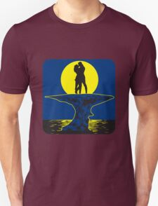 full moon love couple romance island Unisex T-Shirt
